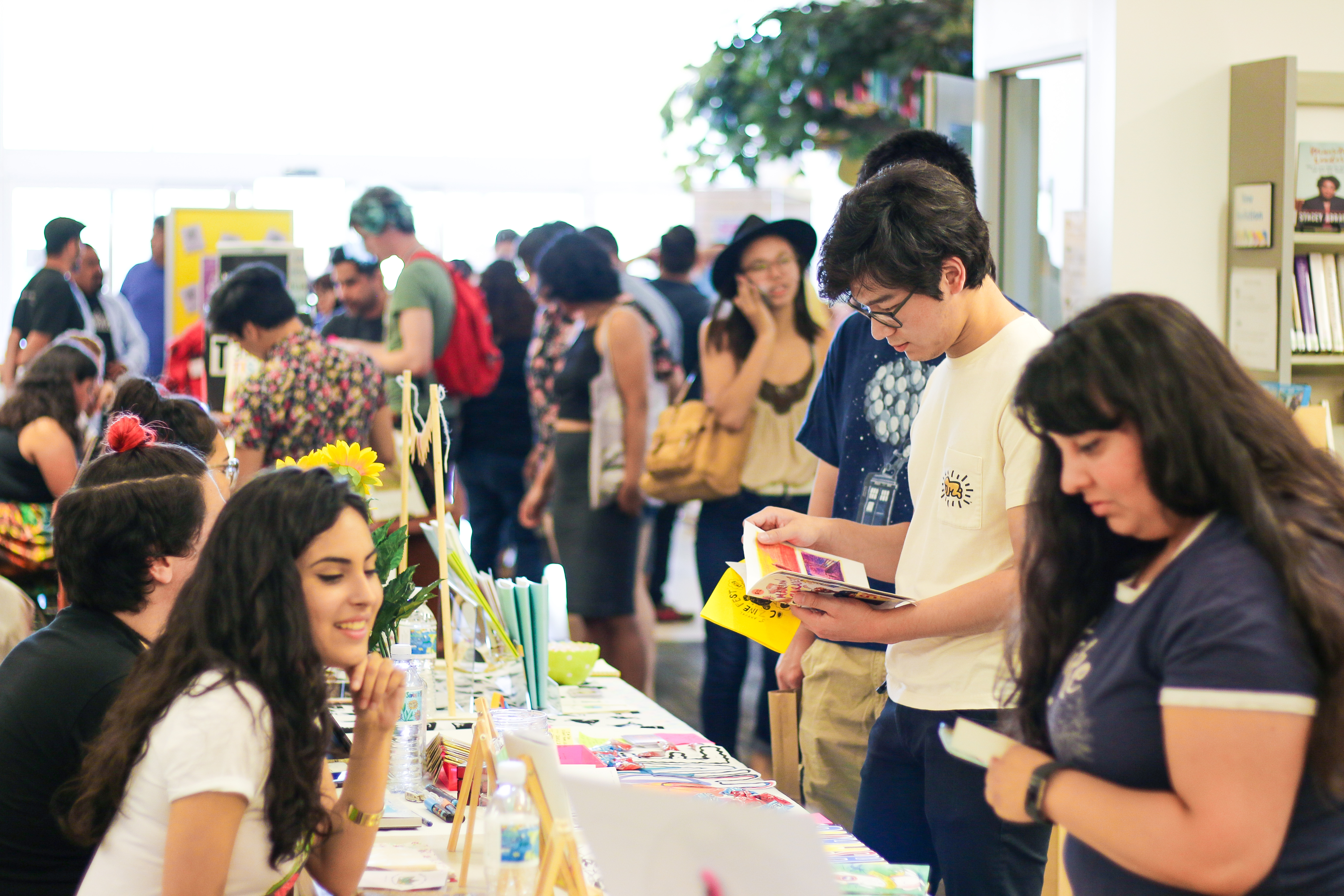 OC Zine Fest vendors at Central Library
